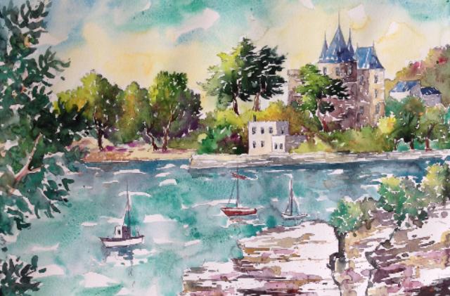 Tristan Hosotte, un peintre amoureux de la côte de Jade