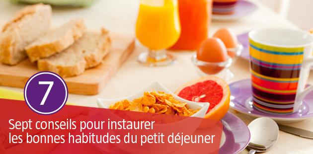 7 Conseils pour instaurer les bonnes habitudes du Petit Déjeuner