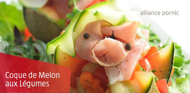 Coque de Melon aux Légumes