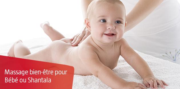 Massage bien-être pour Bébé ou Shantala
