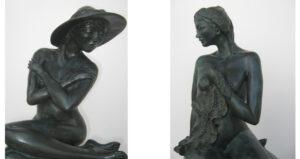 Pascale POULARD, artiste sculpteur expose à la Thalasso de Pornic