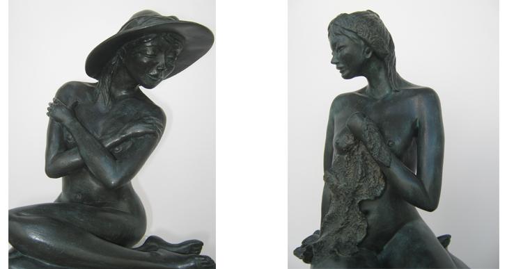 Pascale POULARD, artiste sculpteur à la Thalasso de Pornic