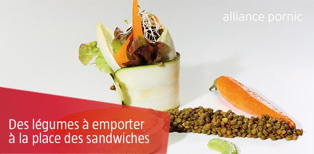 Légumes à emporter: idéal pour remplacer le Sandwich