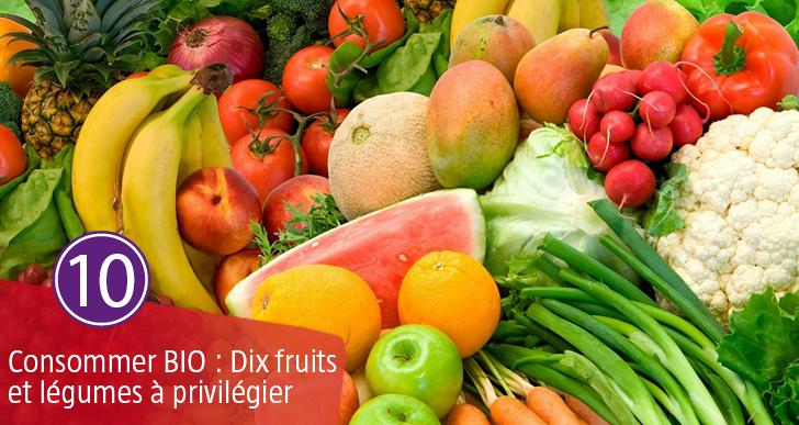 Consommer Bio – 10 fruits et légumes à privilégier