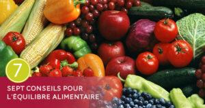 Sept conseils en équilibre alimentaire - Diététique à la Thalasso Pornic