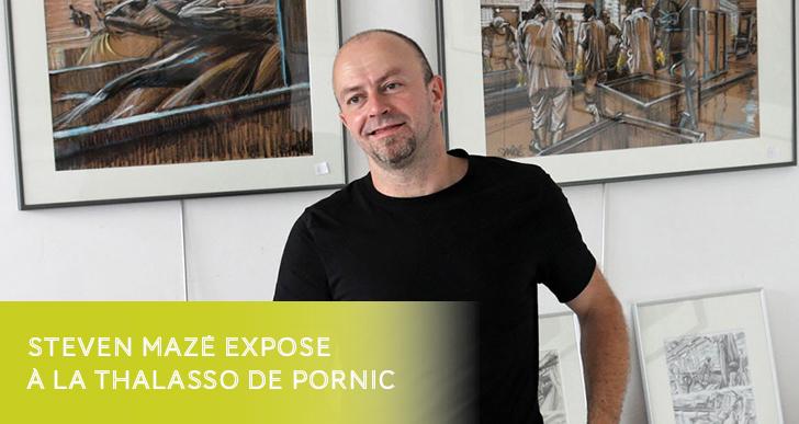 Steven Mazé expose à la Thalasso de Pornic